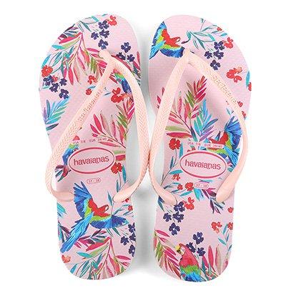 Chinelo Havaianas Tropical Floral Feminino