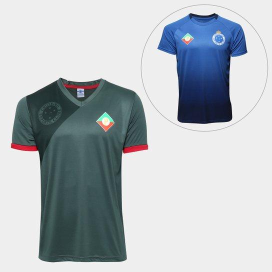 Kit Camisa Retrô Cruzeiro Palestra Itália + Camisa Retrô Cruzeiro s nº  Masculina - Verde 8354ea54fe660