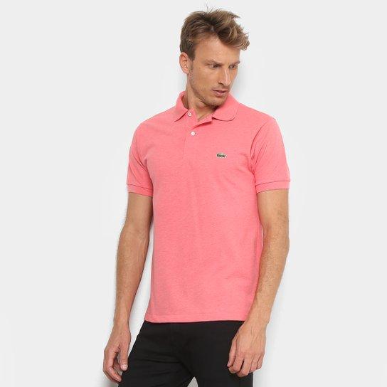 2acb839fb1f6e Camisa Polo Lacoste Mescla Masculina - Rosa Claro - Compre Agora ...