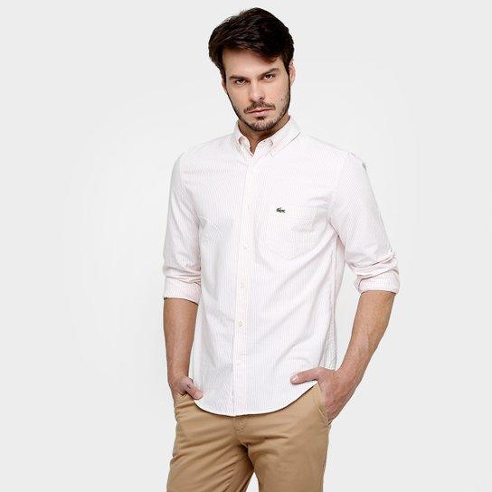 6f525c478cf58 Camisa Lacoste Oxford Listras - Compre Agora