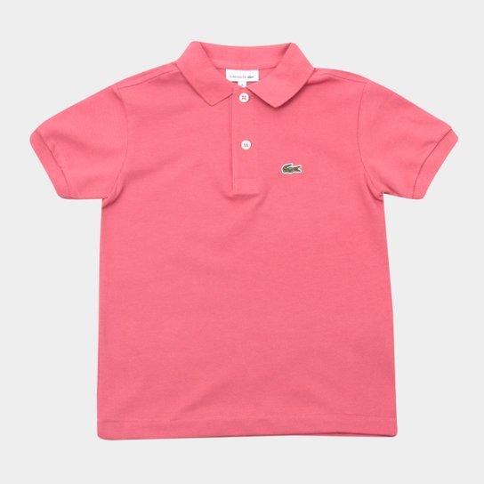 289428d9cc8 Camisa Polo Infantil Lacoste Masculina - Rosa Claro - Compre Agora ...