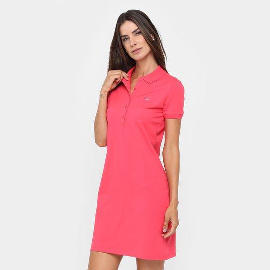 Vestido Lacoste Curto Polo Botões - Compre Agora   Netshoes 0b7fe9efef