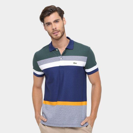 560e37a740 Camisa Polo Lacoste Piquet listras color - Compre Agora