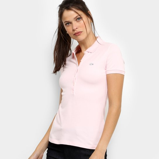 199e044552668 Camisa Polo Lacoste Manga Curta Botões Feminina - Compre Agora ...