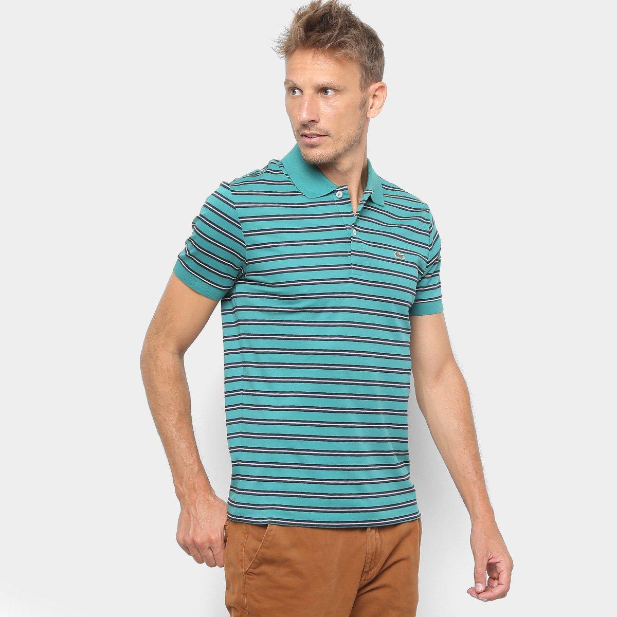 d86ee778c Camisa Polo Lacoste Listrada Masculina