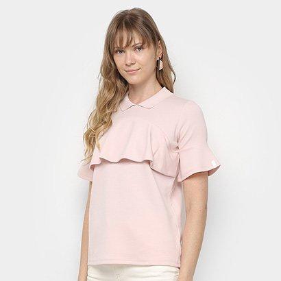 Camisa Polo Lacoste Babados Feminina