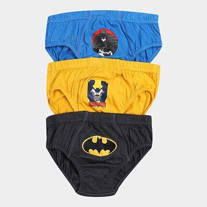 Kit Cueca Infantil Lupo Batman com 3 Peças