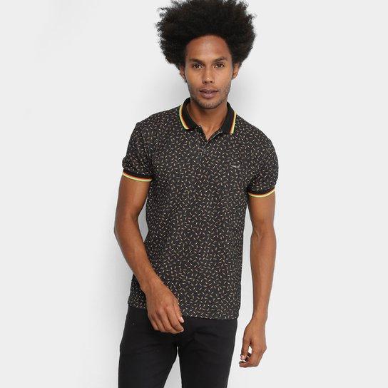 8dbfea0a8 Camisa Polo Colcci Estampada Masculina - Marrom+Laranja
