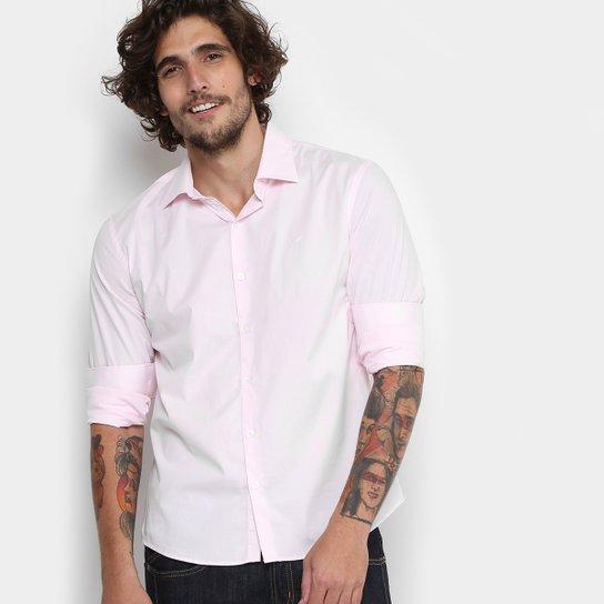 Camisa Ellus Tricoline Italiana Slim Masculina - Rosa Claro - Compre ... 76ba8acbec