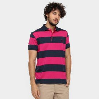 4dfef053536 Camisa Polo Aleatory Fio Tinto Listra Vertical