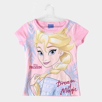 fc3986858 Blusa Infantil Fakini Estampa Frozen Feminina