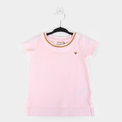 Blusa Infantil Milon Cotton Alongada Feminina