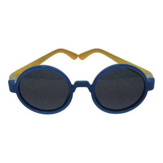 ddb468ac7 Óculos de Sol Khatto Infantil Baby Round - Azul+amarelo