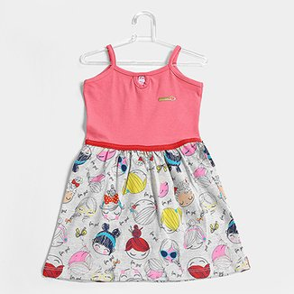c09cac8b3 Vestido Infantil For Girl Regata Banana
