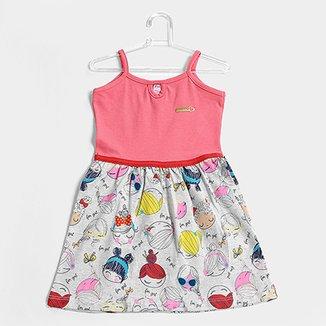 140b16533f3d8 Vestido Infantil For Girl Regata Banana