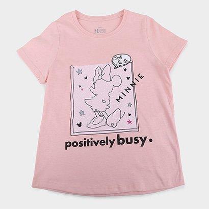 Blusa Infantil Disney Positively Busy Minnie Feminina