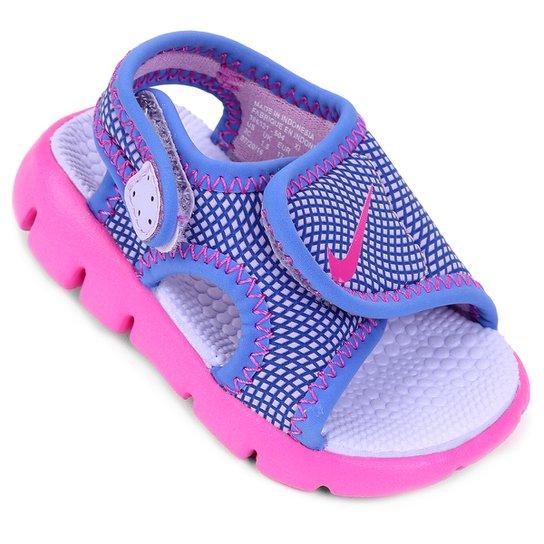 953a1a9202b Sandália Nike Sunray Adjust 4 Infantil - Azul e Roxo - Compre Agora ...