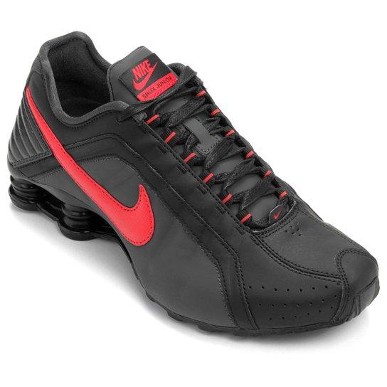 new concept fbf52 92919 Tênis Nike Shox Junior - Chumbo+Vinho