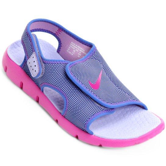eff3e60df0e98 Sandália Infantil Nike Sunray Adjust 4 GGP Feminina - Azul e Pink ...