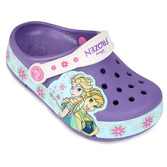 c8be64d77f Sandália Crocs Infantil Lights Frozen Fever Clog
