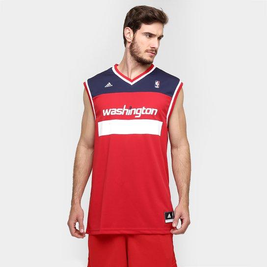 f85113f4d Camiseta Regata Adidas Washington Wizards Road - Vermelho+Marinho