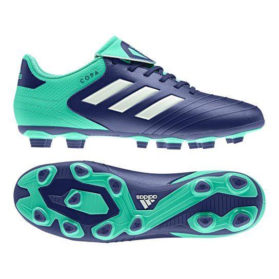 75a9c280d3 Chuteira Campo Adidas Copa 18 4 FXG - Azul e Verde