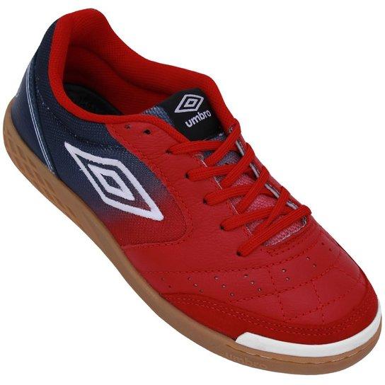 e9c9cde9b4d7a Tênis Umbro Futsal Box - Vermelho+Marinho