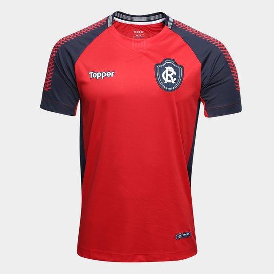 b3bb00bc26 Camisa de Goleiro Remo I 2018 s n° Topper Masculina - Vermelho+Marinho