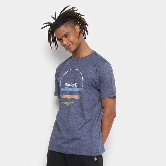 Camiseta Hurley Silk Banded Masculina - Azul - Compre Agora  4b3d0f7a902