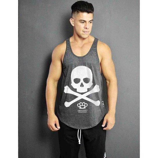 Regata cavada - Skull X - Mescla Escuro - Compre Agora  1fde85d7530