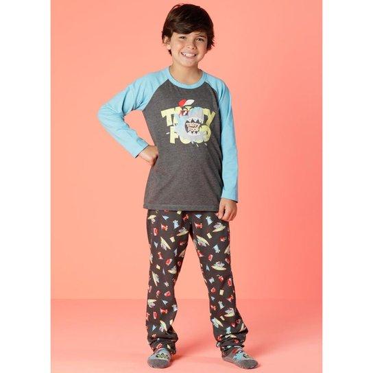 bddf62ffc Pijama Infantil Puket Tubarão - Mescla Escuro