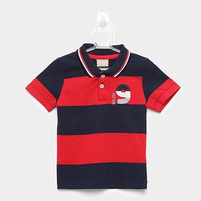 Camisa Polo Infantil Milon Listrada Tal Filho Masculina