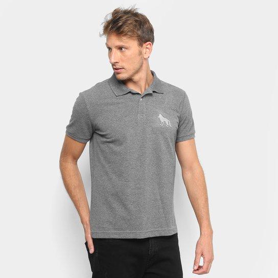 d5f679df0eaeb Camisa Polo Acostamento Bordado Masculina - Mescla Escuro - Compre ...