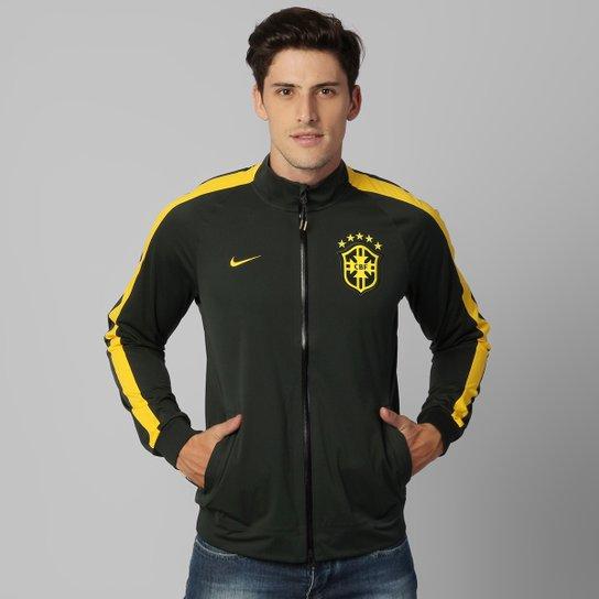 Jaqueta Nike Seleção Brasil Intl Anthem Track - Compre Agora  e0f907fe412f4
