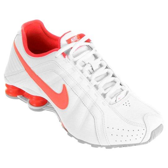 0cf0adc1ab Tênis Nike Shox Junior - Branco+Salmão