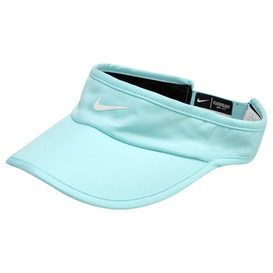 6fd1bd5c09fbf Viseira Nike Featherlight 2.0 - Azul Claro+Branco