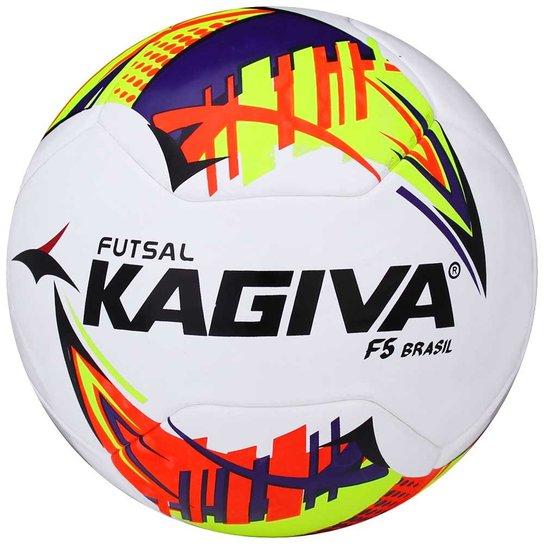 be1a8d774e Bola Kagiva Futsal F5 Brasil 2017 2018 - Branco+Amarelo