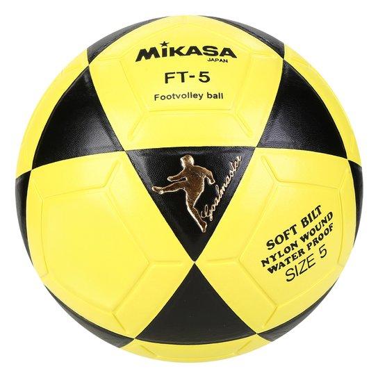 Bola Futebol Mikasa FT-5 Futvôlei - Preto e Amarelo - Compre Agora ... 2d12472c9d0e3