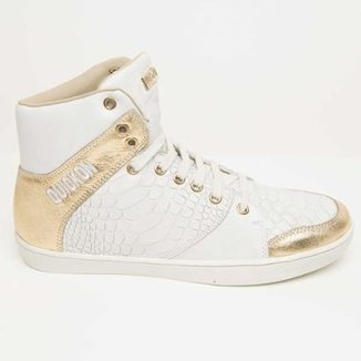 e46367bdf25 Bota de Treino Sneakers Fitness Feminina Couro Premium Quickon Flat