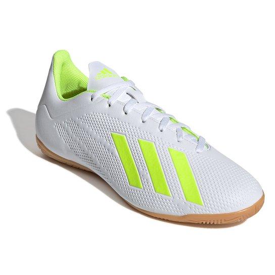 9155d49941c Chuteira Futsal Adidas X 18 4 IN - Branco e Amarelo - Compre Agora ...