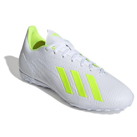 1f6bd6ac2f Chuteira Society Adidas X 18 4 TF - Branco e Amarelo