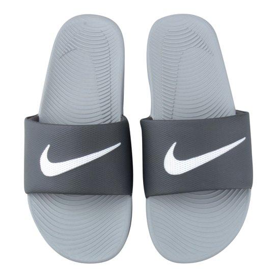 196bed3a56 Sandália Nike Kawa Slide Masculina - Branco e Cinza | Netshoes
