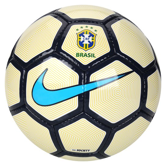 570c063e7caa8 Bola Futebol Society Nike CBF - Branco+Amarelo
