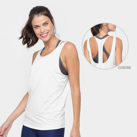 27b519530ded8 Regata Nike Dry Ta Loose Rbk Studio Feminina - Prata e Branco ...