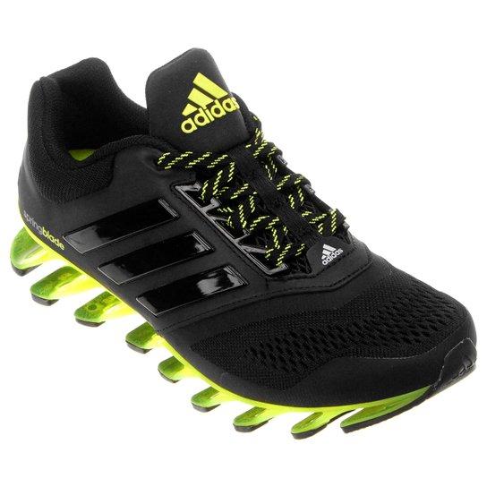 20bec7c9e3a Tênis Adidas Springblade Drive 2 Infantil - Preto+Verde Limão