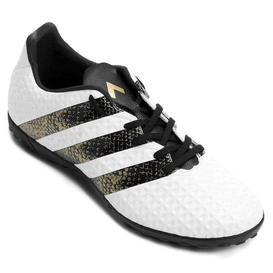 b42945459698a Chuteira Society Adidas Ace 16.4 TF Masculina - Branco e Preto ...