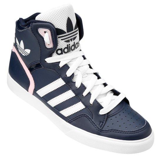 315538a9760ba Tênis Adidas Extaball W - Marinho+Rosa Claro