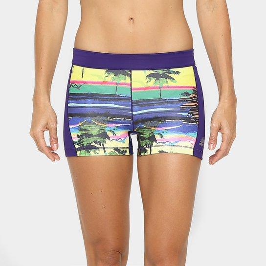1eb04aa15 Short Adidas Tight Tf G1 Salinas Feminino - Roxo e Verde | Netshoes