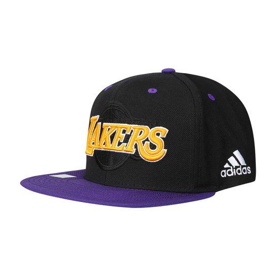 2764bc67ab0d9 Boné Adidas Los Angeles Lakers Aba Reta - Preto e Amarelo - Compre ...