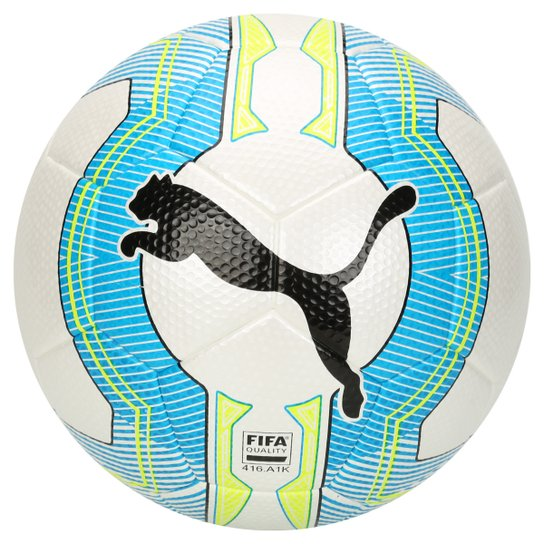 47caceb972b Bola Futebol Puma Evopower 3.3 Tournament Fifa Campo - Branco+Azul Turquesa